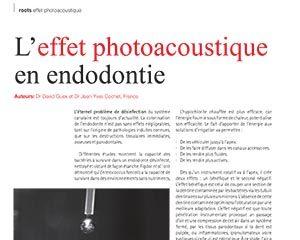 L'effet photoacoustique en endodontie